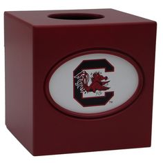 South Carolina Gamecocks Tissue Box Cover, Multicolor