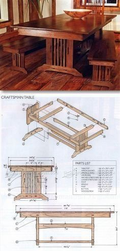 Farmhouse table plans & ideas find and save about table plans . See more ideas about Farm style kitchen plans, Farm table plans and DIY dining room #WoodworkPlans