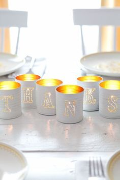 DIY Ideas With Tin Cans - Tin Punched Votive Candles- Cheap and Easy Organizing Projects and Crafts Made With A Tin Can - Cool Teen Craft Tutorials and Home Decor Tin Can Crafts, Crafts To Make, Diy Crafts, Upcycled Crafts, Paper Bag Puppets, Beautiful Mess, Beautiful Things, Decorating On A Budget, Holiday Decorating