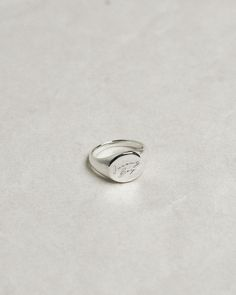 Engraved on sterling silver