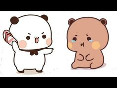 Cute Bunny Cartoon, Cute Cartoon Pictures, Cute Anime Profile Pictures, Cute Love Pictures, Cute Love Cartoons, Cute Bear Drawings, Cute Cartoon Drawings, Cute Panda Wallpaper, Wallpaper Iphone Cute