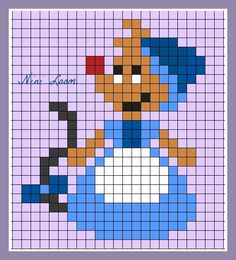 Mouse Cinderella perler bead pattern