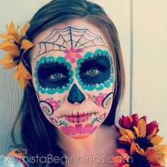 day of the dead woman's face paint