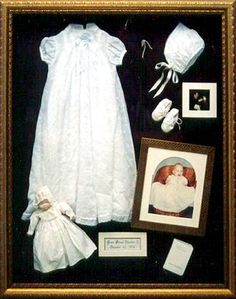 Shadowbox and Baby's gown