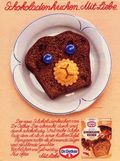 1981, Anzeige Schokoladenkuchen