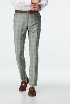green plaid pants - engagement outfits Engagement Dresses, Engagement Photo Outfits, Engagement Photos, Green Pattern, Plaid Pattern, Green Plaid Pants, Stylish Suit, Plaid Fabric, What To Wear