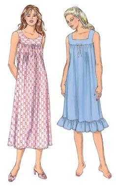 Kwik Sew 3343 Misses Nightgown Night Wear Dress, Night Gown, Nightgown Pattern, Casual Dresses, Summer Dresses, Kwik Sew, Nightgowns For Women, Dress Sketches, Moda Vintage