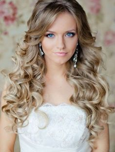 Bridal Curly Hairstyles For Long Hair #prom hairstyles