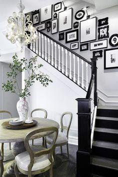 Image result for black stair banister