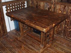 Купить стол под старину из сосны, состаренные столы в Москве