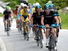 CRITERIUM DU DAUPHINE STAGE SEVEN GALLERY Geraint Thomas and Team Sky set a fierce pace on the climb to the summit finish of stage seven