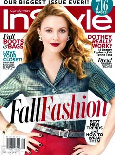 Drew Barrymore para InStyle US, Septiembre 2013