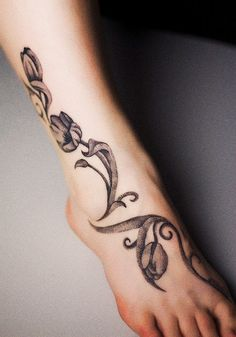 dotwork tulips tattoo  by punktum tattoo, via Flickr love the way these look