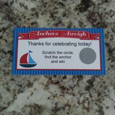 20 Anchors Aweigh Scratch Off Tickets by msmemories101 on Etsy