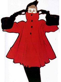 Jacques Fath illustration done by Rene Gruau for L'Officiel magazine, 1949 Jacques Fath, Moda Fashion, 1950s Fashion, Fashion Art, Vintage Fashion, Fashion Design, Christian Dior Couture, Dior Haute Couture, Lanvin