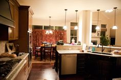 kitchen and dining nook area
