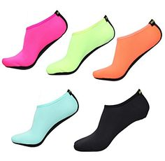 BBA Water Skin Shoes Aqua Socks for Beach Swim Surf Yoga Exercise *** Trust me, this is great! Click the image. : Athletic Shoes