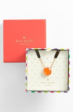 kate spade new york boxed pendant necklace | Nordstrom