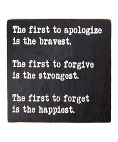 Look at this #zulilyfind! 'The One to Apologize First...' Wall Sign #zulilyfinds