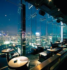 Aqua Spirit Bar. Hong Kong. Luxury restaurant design. For more decor inspirations http://www.bocadolobo.com/en/inspiration-and-ideas/