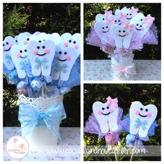 Dental Games, Dental Kids, Dental Pictures, Butterfly Party, Tooth Fairy Pillow, Diy Birthday Decorations, First Tooth, Easy Crafts For Kids, Baby Party