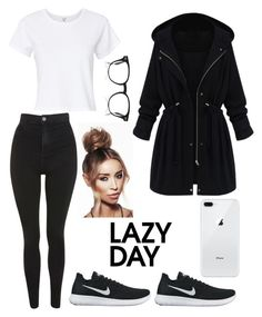 """Untitled #472"" by renibalogh ❤ liked on Polyvore featuring Topshop, NIKE, RE/DONE and WithChic"