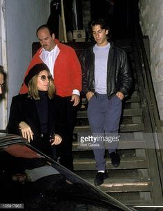 Barbra Streisand son Jason Gould and guest during 'Hurlyburly' Performance December 6 1988 at Westwood Playhouse in Los Angeles California United...