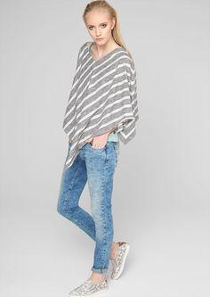 Gestreepte jersey poncho bestellen   s.Oliver Online Shop