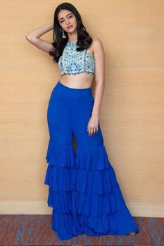 Ananya Pandey is a daughter of Chunky Padey. Indian Fashion Dresses, Dress Indian Style, Indian Designer Outfits, Designer Dresses, Fashion Outfits, Bollywood Dress, Bollywood Girls, Bollywood Fashion, Bollywood Celebrities