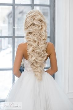 свадебные прически на длинные волосы 2016 фото
