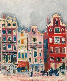 Kees van Dongen, Maisons à Amsterdam, 1907 on ArtStack #kees-van-dongen #art