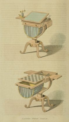 1811 - Ladies Work/Game Table from Ackermann's Repository
