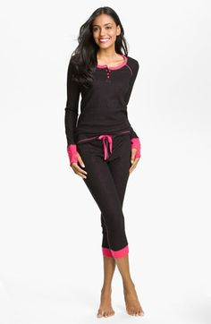Steve Madden Thermal Knit Pajamas available at #Nordstrom