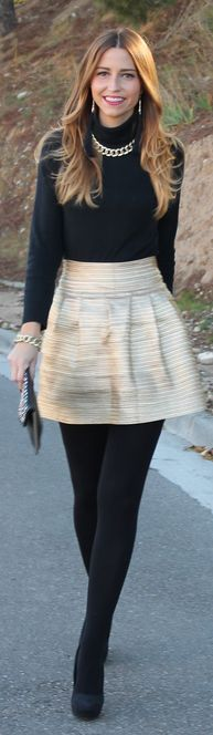 If the skirt was knee length this would be totally perfect. but I love the concept. very classic