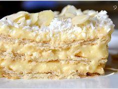 Rafaello na biszkopcie - przepis - Mojegotowanie.pl Pastry Recipes, Cake Recipes, Dessert Recipes, Desserts, Vanilla Sugar, Vanilla Cake, Tummy Yummy, Cake Tasting, Food Cakes