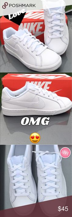 New Nike Sneaker for Women ... New Nike all white and as light as you'll wear. These run a bit small... they will go fast... price is firm here.  Nike Shoes Sneakers