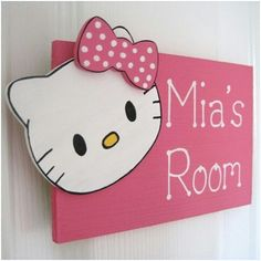 Hello kitty room sign ( Get This Same Thing In My Room