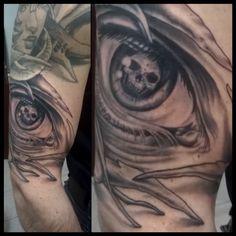 Bioorganic eye Tatto, by Mael tattoo