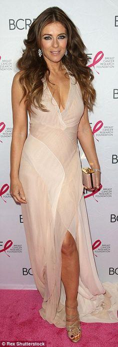 Elizabeth Hurley and Sara Sampaio shine at Hot Pink Party #dailymail