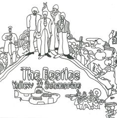 the beatles yellow submarine cover art coloring page  hey