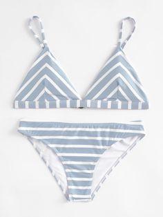 Shop Striped Triangle Bikini Set online. SheIn offers Striped Triangle Bikini Set & more to fit your fashionable needs.