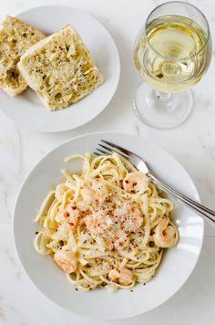 Shrimp Scampi with Fettuccine| cooking ala mel