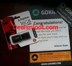 (Update Restock Alert + Unlimited Trick + Proof) Gokano Loot - Get Free Pendrive,Earphones,Ipod,iPhone 6 on Completing Tasks & Referring Friends ~ Free Recharge Tricks, Online Loot Deals - Dealsnloot