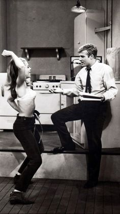 """Jane Fonda and Robert Redford in """"Barefoot in the Park"""""""