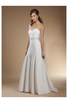 A-line   http://www.kissbrides.com/wedding-dresses/sheath-column/a-line-princess-sweetheart-chapel-train-crystal-beaded-sach-jacquard-organza-bridal-dress.html