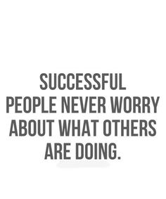 Success comes when