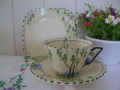Burleigh ware vintage tea trio. by MaddyVintageHostess on Etsy, £18.00