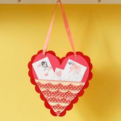 Heart-Shape Valentine Mailbox - idea for class party. Have kids make their own valentine carrier/mailbox
