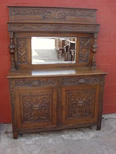 Antique Furniture French Antique Sideboard Server Antique Hutch Cabinet Cupboard