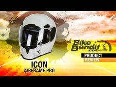 Icon Airframe Pro Motorcycle Helmet | BikeBandit.com - YouTube
